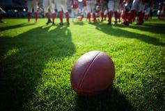 Cierre para arriba de un fútbol americano Fotografía de archivo libre de regalías