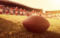Cierre para arriba de un fútbol americano foto de archivo libre de regalías