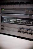 Cierre para arriba del amplificador de sonidos imagenes de archivo