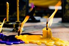 Cierre para arriba del palillo de la vela Imagen de archivo libre de regalías
