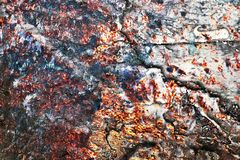 Cierre para arriba la superficie de la pintura colorida rociada en las paredes del hormig?n y del cemento en la alta resoluci?n libre illustration