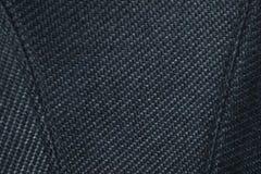 Cierre para arriba la textura de la tela de la butaca de lujo tapizada Costura superior y modelo marcado con rayitas cruzadas en  fotos de archivo libres de regalías