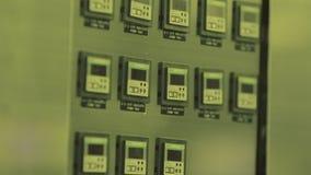 Cierre para arriba tecnología de producción nana del microchip Microprocesador zona limpia de la atmósfera estéril producción de  almacen de metraje de vídeo
