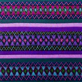 Cierre peruano africano colorido de la superficie de la manta del estilo para arriba Foto de archivo