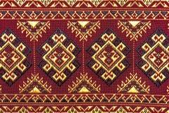 Cierre peruano de la superficie de la manta del estilo de la artesanía de seda tailandesa colorida para arriba Foto de archivo
