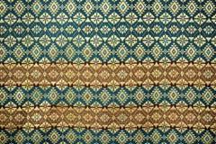 Cierre peruano de la superficie de la manta del estilo de la artesanía de seda tailandesa colorida para arriba Imagenes de archivo