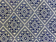 Cierre peruano de la superficie de la manta del estilo de la artesanía de seda tailandesa colorida encima de más este adorno y de Imágenes de archivo libres de regalías