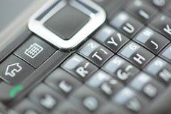 Cierre Qwerty del telclado numérico elegante del teléfono para arriba Fotografía de archivo libre de regalías