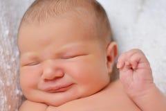 Cierre recién nacido de la cara para arriba Imagen de archivo libre de regalías