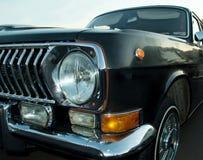 Cierre retro negro del coche encima de la visión Foto de archivo libre de regalías