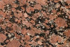 Cierre rojo del granito para arriba Foto de archivo