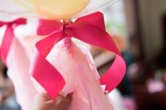Cierre rosado de la cinta para arriba Imagenes de archivo