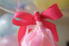 Cierre rosado de la cinta para arriba Fotografía de archivo