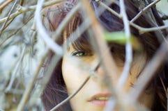 Cierre sensual hermoso de la mujer encima del ojo Fotografía de archivo libre de regalías