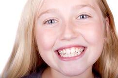 Cierre sonriente adolescente para arriba Fotos de archivo