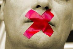 Cierre su boca Fotografía de archivo libre de regalías