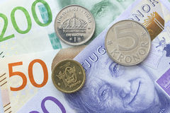 Cierre sueco de la moneda para arriba Imagen de archivo