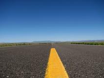 Cierre vacío del camino para arriba Imagenes de archivo