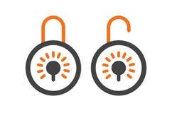 Cierre y desbloquee el diseño del icono ilustración del vector