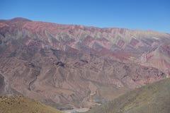 Cierro 14 colores/veertien kleuren heuvel - humahuaca, het noorden of Argentinië royalty-vrije stock foto