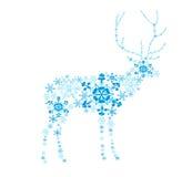 Ciervos abstractos de los copos de nieve Foto de archivo