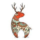 Ciervos comunes con las flores Imagen de archivo libre de regalías
