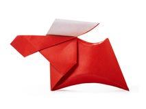 Ciervos comunes de papel de la papiroflexia Foto de archivo