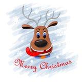Ciervos de la Feliz Navidad stock de ilustración