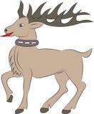 Ciervos de la historieta en el fondo blanco Imágenes de archivo libres de regalías