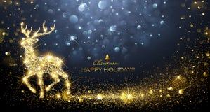 Ciervos de la magia de la Navidad stock de ilustración