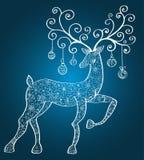 Ciervos de la Navidad Foto de archivo libre de regalías