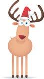 Ciervos de la Navidad con el ojo grande Imagenes de archivo