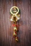 Ciervos de la Navidad con la campana Fotografía de archivo