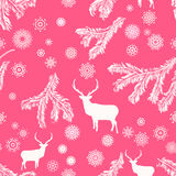 Ciervos de la Navidad, ejemplo inconsútil. EPS 8 Foto de archivo libre de regalías