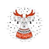 Ciervos de la Navidad Feliz Navidad y Feliz Año Nuevo Imágenes de archivo libres de regalías