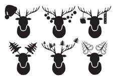 Ciervos de la Navidad Un sistema de ciervos negros Imágenes de archivo libres de regalías