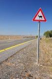 Ciervos de la señal de tráfico. Foto de archivo