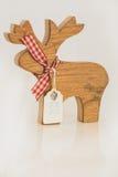Ciervos de madera en blanco Imágenes de archivo libres de regalías