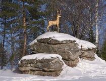 Ciervos de oro - el símbolo del centro turístico de Belokurikha imágenes de archivo libres de regalías