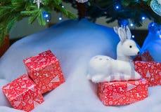 Ciervos del Año Nuevo Imagen de archivo libre de regalías