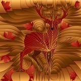 Ciervos del arce del otoño y de los leafes ilustración del vector