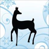 Ciervos del invierno - tema del día de fiesta stock de ilustración
