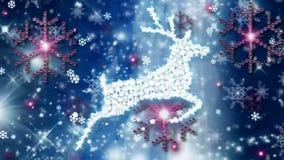 Ciervos del vuelo de la Navidad almacen de video