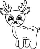 Ciervos divertidos del bebé de la historieta Foto de archivo libre de regalías