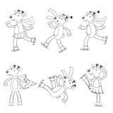 Ciervos en el patinaje de hielo Imagenes de archivo
