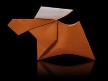 Ciervos marrones de papel de la papiroflexia Fotografía de archivo libre de regalías
