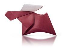 Ciervos marrones de papel de la papiroflexia Foto de archivo libre de regalías