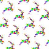 Ciervos multicolores del triángulo gráfico abstracto Fotografía de archivo