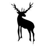 Ciervos negros stock de ilustración