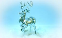Ciervos nobles Dasher de la Navidad o rápido Fotografía de archivo